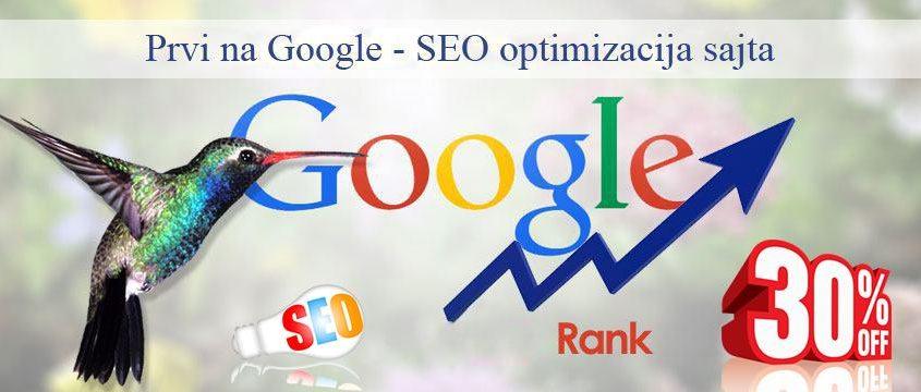Prvi na Google, besplatna reklama sajta
